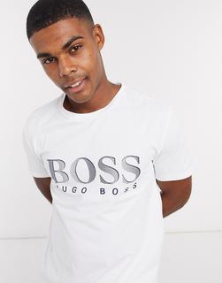 Boss - Bodywear – Weißes T-Shirt mit Logo