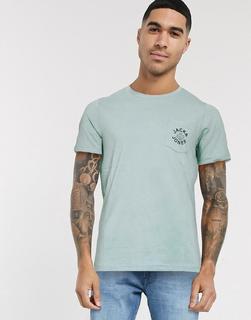 Jack & Jones - T-Shirt mit Brusttasche und Logo-Grün