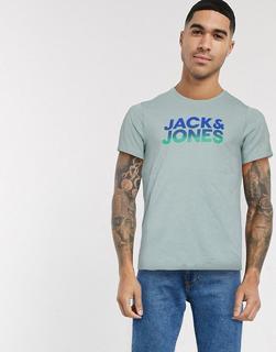 Jack & Jones - T-Shirt mit Print und Farbverlauf-Grün
