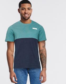 Jack & Jones - T-Shirt mit Farbblockdesign-Navy