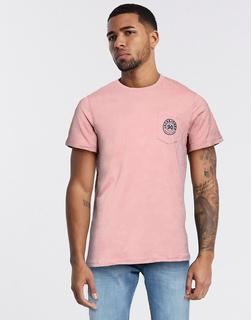 Jack & Jones - T-Shirt mit Brusttasche und Logo-Rosa