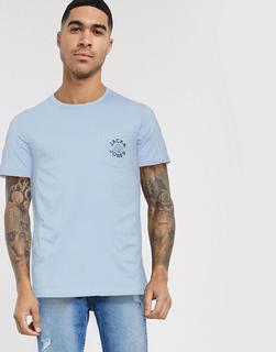 Jack & Jones - T-Shirt mit Brusttasche und Logo-Blau