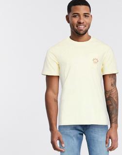 Jack & Jones - T-Shirt mit Brusttasche und Logo-Gelb