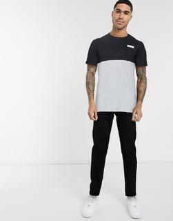 Jack & Jones - T-Shirt mit Farbblockdesign-Grau