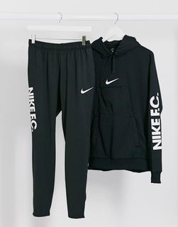 Nike Football - Schwarze Jogginghose mit FC-Logo