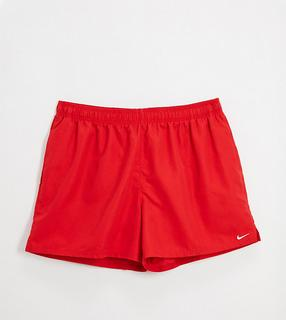 Nike Swimming - Plus – Volley-Shorts in Rot, 5 Zoll