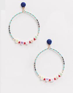 ASOS DESIGN - Ohrringe mit Perlen-Mehrfarbig