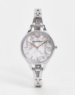 Emporio Armani - Silberfarbene Armbanduhr