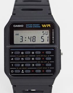 Casio - CA-53W-1ER – Schwarze Armbanduhr mit Rechnerdetail