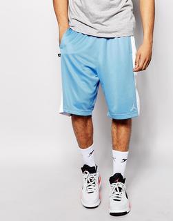 Jordan - Nike – Jordan – Shorts mit Logo-Blau