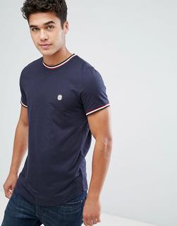 Le Breve - Ringer-T-Shirt-Navy