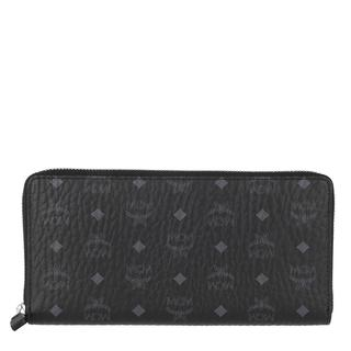 MCM - Portemonnaie - Visetos Original Zip Wallet Black - in schwarz - für Damen