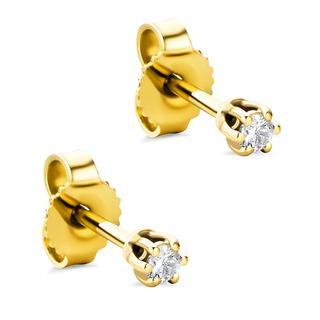 DIAMADA - Ohrringe - 14KT Diamond Earrings Yellow Gold - in gelbgold - für Damen