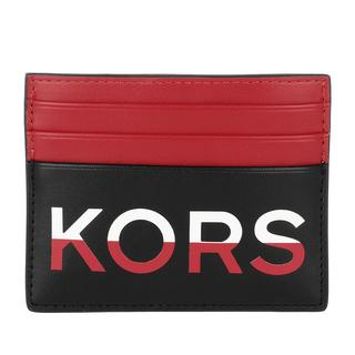 MICHAEL KORS - Portemonnaie - Men Tall Card Case Black Red - in bunt - für Damen