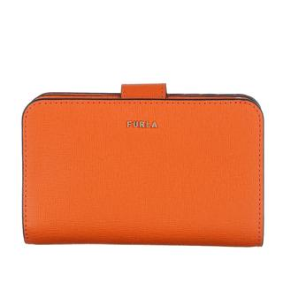 Furla - Portemonnaie - Babylon Medium Compact Wallet Orange - in orange - für Damen