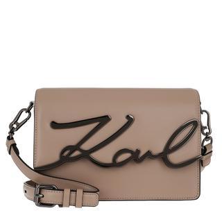 KARL LAGERFELD - Umhängetasche - Karl Signature Shoulderbag Clay - in beige - für Damen