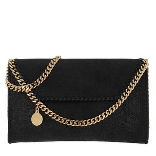 Stella Mccartney - Umhängetasche - Falabella Mini Crossbody Bag Black/Gold - in gold - für Damen