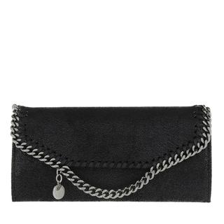 Stella Mccartney - Portemonnaie - Flap Wallet Shaggy Deer Black - in schwarz - für Damen