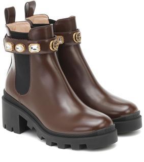 Gucci - Ankle Boots Trip aus Leder