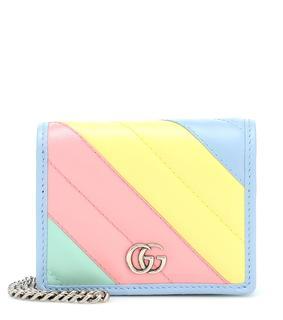 Gucci - Portemonnaie GG Marmont aus Leder