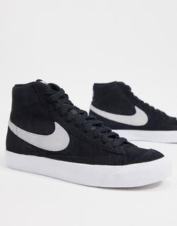 Nike - Blazer Mid '77 – Schwarze Sneaker aus Wildleder