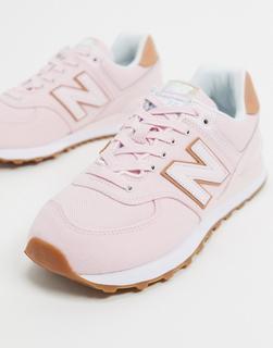 new balance - 574 – Halbhohe Sneaker in Rosa