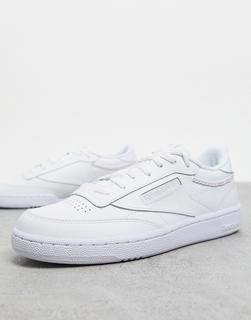 Reebok - Club C – Weiße Sneaker mit Flechtdetail