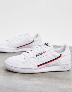adidas Originals - Continental 80 – Sneaker in Weiß und Rot