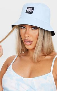 PrettyLittleThing - Blue Branded Bucket Hat, Blue
