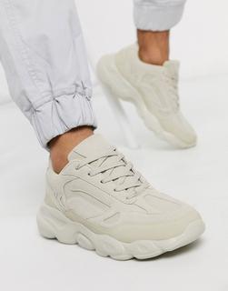ASOS DESIGN - Sneaker in Stone mit dicker Sohle