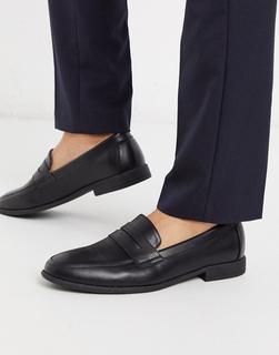 New Look - Schwarze PU-Loafer im College-Stil-Braun