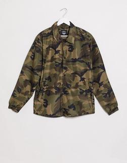Brave Soul - Harrington-Jacke mit Military-Muster-Grün