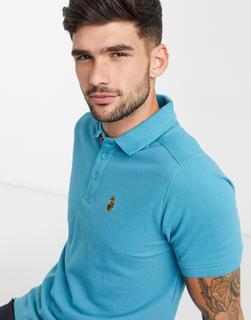 Luke - Robbie – Basic-Polohemd-Blau