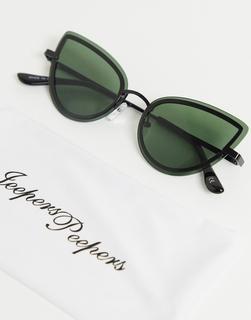 Jeepers Peepers - Katzenaugen-Sonnenbrille in Schwarz