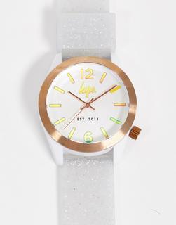Hype - Weiße Uhr mit glitzerndem Armband