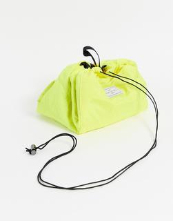 Flat Lay Company - The Flat Lay Co. – Make-up-Tasche mit Kordelzug, Neongelb