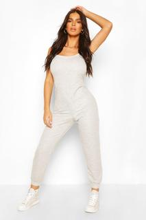 boohoo - Womens 2 In 1 Cami Top & Jogger Jumpsuit - Grey - 12, Grey
