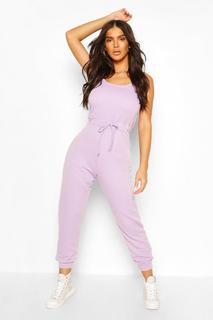boohoo - Womens 2 In 1 Cami Top & Jogger Jumpsuit - Purple - 16, Purple