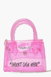 boohoo - Womens Clear Insert Cash Cross Body Bag - Pink - One Size, Pink