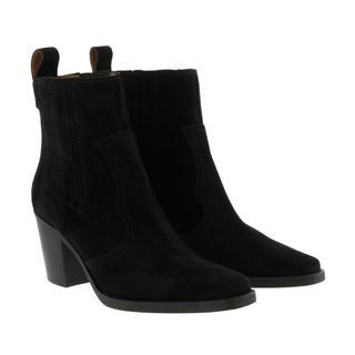 Ganni - Boots - Western Boot Suede Black - in schwarz - für Damen