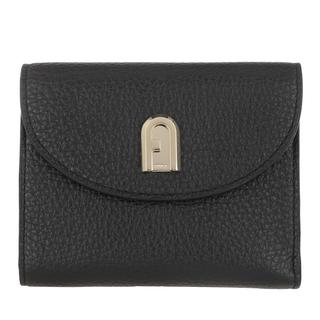Furla - Portemonnaie - Sleek Medium Compact Wallet Nero - in schwarz - für Damen