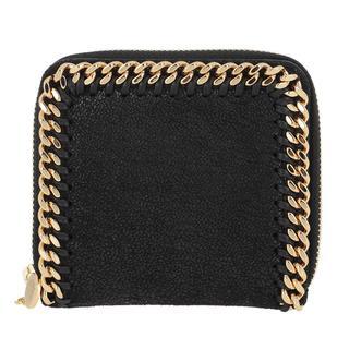 Stella Mccartney - Portemonnaie - Wallet Leather Black - in gold - für Damen