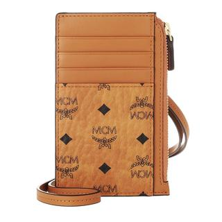 MCM - Portemonnaie - Visetos Original Card Coin Case Cognac - in cognac - für Damen