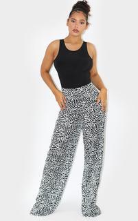 PrettyLittleThing - Leopard Wide Leg Trousers, Animal
