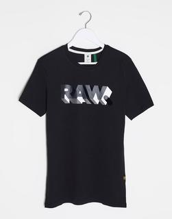 G-Star - RAW. – Schwarzes T-Shirt