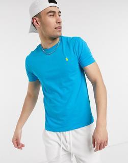 Polo Ralph Lauren - T-Shirt mit Polospielerlogo in Hellblau
