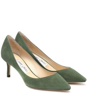 Jimmy Choo - Pumps Romy 60 aus Veloursleder