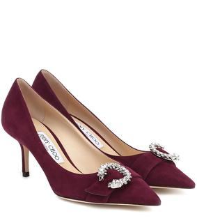 Jimmy Choo - Pumps Saresa 65 aus Veloursleder