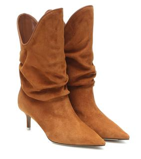 The Attico - Ankle Boots Tate aus Veloursleder