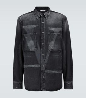 Valentino - Hemdjacke VLTN aus Denim